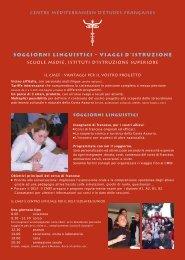 SOGGIORNI LINGUISTICI - VIAGGI D'ISTRUZIONE - Centre ...