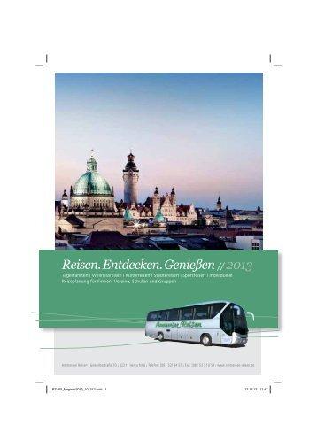 Reisen. Entdecken. Genießen // 2013 - Ammersee-Reisen in ...