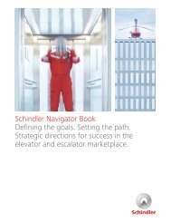 Schindler Navigator Book Defining the goals. Setting the path ...