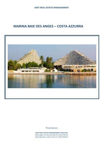 MARINA BAIE DES ANGES – COSTA AZZURRA - Axet