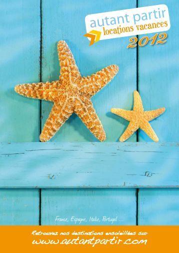 Télécharger le catalogue EDITION 2012 - AUTANT PARTIR