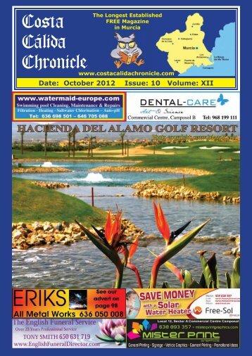 October 2012 - Costa Calida Chronicle