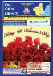 February 2012 Issue - Costa Calida Chronicle