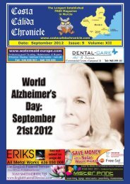 September 2012 - Costa Calida Chronicle