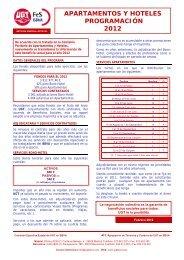 apartamentos y hoteles programación 2012 - secciones sindicales ...