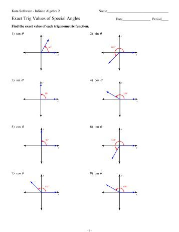 6 3 Trig Equations With Multiple Angles
