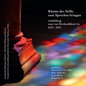 Kirchenführerausbildung 2012-14.KKK.indd - EEB Niedersachsen