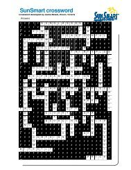 SunSmart crossword answers