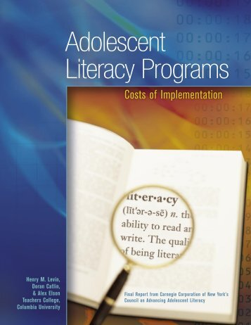 Adolescent Literacy Programs - Carnegie Corporation of New York