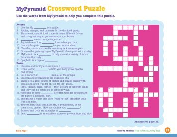 MyPyramid Crossword Puzzle