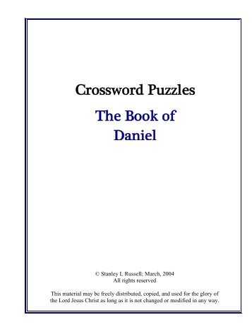 The Book of Daniel Crossword Puzzles - Stansarea.com; Entry Page