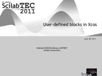 User-defined blocks in Xcos - Scilab