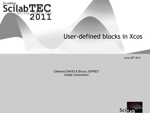 User-defined blocks in Xcos - Scilab