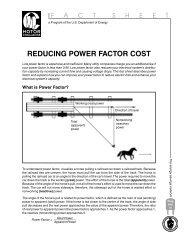 Reducing Power Factor Cost - EERE - U.S. Department of Energy
