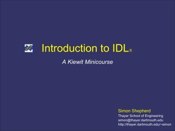 Introduction to IDL®