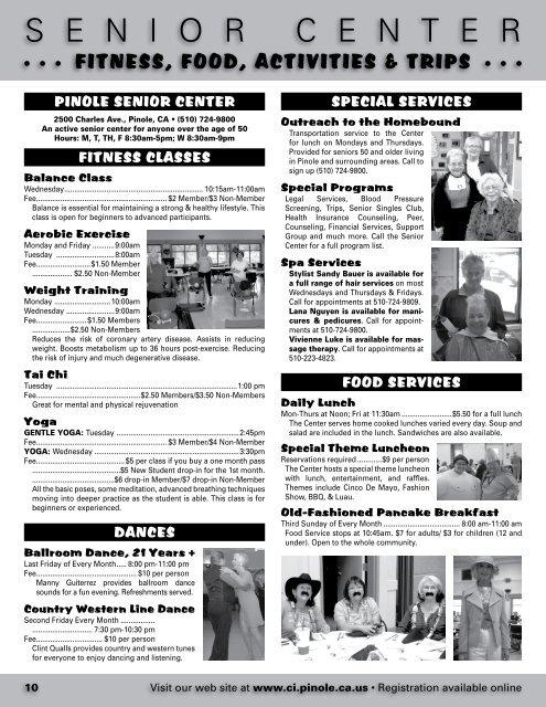 Pinole community guide - City of Pinole
