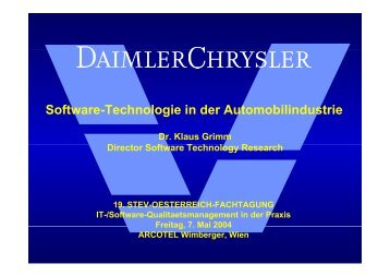 Software-Technologie in der Automobilindustrie