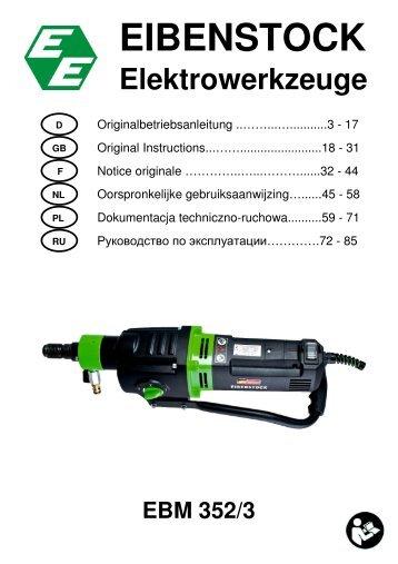 EBM 352 3 D,GB, F, NL - Eibenstock