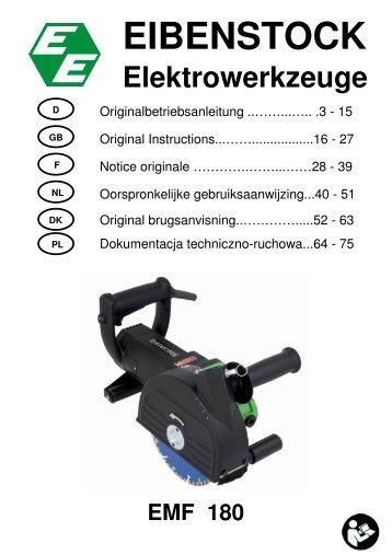 EMF 180 D, GB, F, NL, DK - Eibenstock