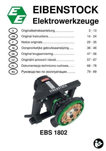 EBS 1802 D,GB,F,NL,DK,CZ,PL,RU - Eibenstock