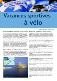Vacances Sportives à Vélo - Jetair
