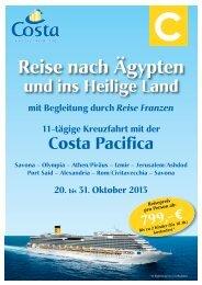 PDF-Prospekt Costa Pacifica 2013 - Reise Franzen GmbH