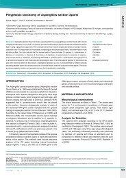 A R T IC L E Polyphasic taxonomy of Aspergillus ... - IMA Fungus