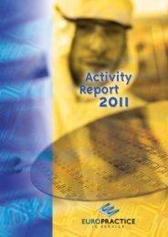 Annual report 2011 - Europractice-IC