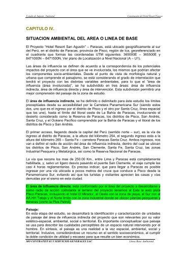 EIA-sd SAN AGUSTIN - Cap. 4 Situación Ambiental - Ministerio de ...