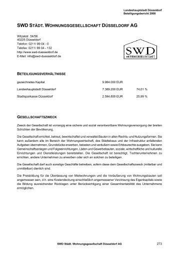 SWD Städt. Wohnungsgesellschaft Düsseldorf AG - Stadt Düsseldorf