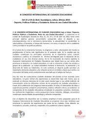 XI CONGRESO INTERNACIONAL DE CIUDADES ... - Guadalajara