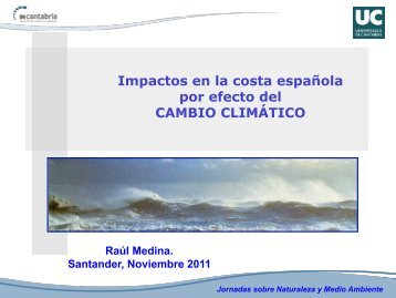 Impactos en la costa española por efecto del CAMBIO CLIMÁTICO