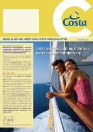 Jetzt mit Costa kreuzfahrten neue routen entdecken!
