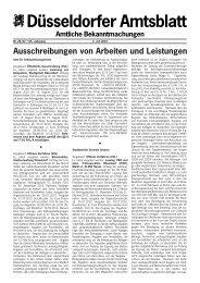Bekanntmachungs anordnung - Stadt Düsseldorf