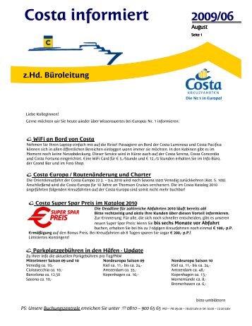 Costa informiert - CostaClick.at