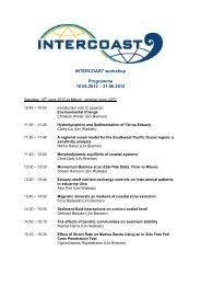 INTERCOAST workshop Programme 16.06.2012 – 21.06 ... - Marum