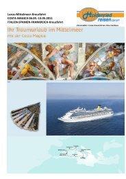 Luxus-Mittelmeer-Kreuzfahrt COSTA MAGICA 06.05. - Holdenried ...