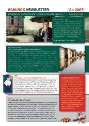 Schunck newSletter 2 2009 - SCHUNCK GROUP
