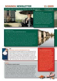 Schunck newSletter 2 2009 - SCHUNCK GROUP