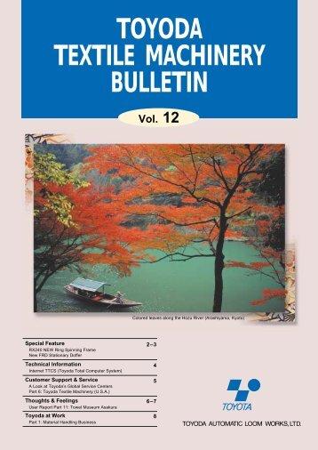 toyoda textile machinery bulletin - Toyota Industries Corporation