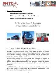 LE BUS À HAUT NIVEAU DE SERVICE - SMTC