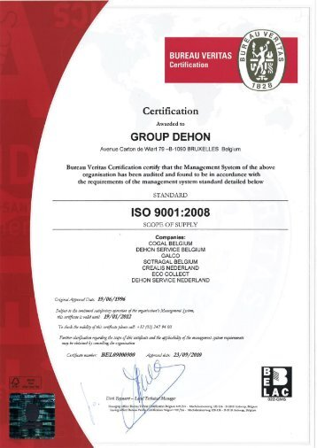 Certified ISO 9001(pdf, 1MB) - Galco|Climalife