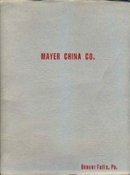 mayer china - The Restaurant Ware Collectors Network