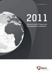 Relatório e Contas 2011_Demonstrações Financeiras ... - Efacec
