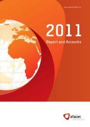Report and Accounts 2011 | 1 - Efacec