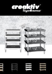 Download Creaktiv brochure - Versnel Hifi