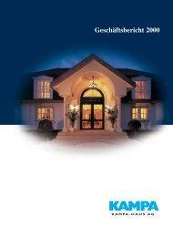 Geschäftsbericht 2000 - KAMPA AG