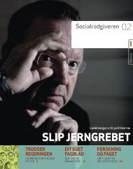 Socialrådgiveren nr. 2-2008 - Dansk Socialrådgiverforening