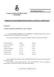 verbale di deliberazione della giunta comunale - Comune di Poggio ...
