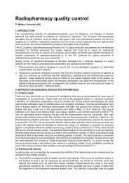 Radiopharmacy quality control - European Association of Nuclear ...